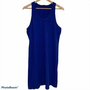 J Crew Royal Blue Cotton Racerback Tank Dress